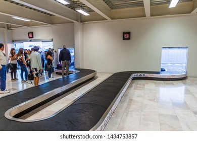 QUERETARO, MEXICO: OCTOBER 2, 2016: Baggage claim area at the Queretaro Intercontinental Airport, Mexico