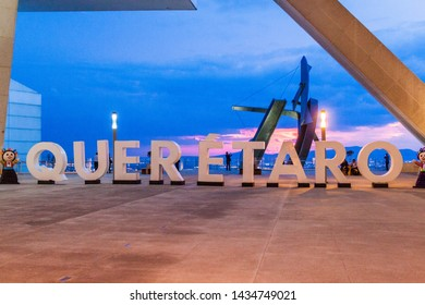 QUERETARO, MEXICO: OCTOBER 5, 2016: Sign QUERETARO at the Centro de Congresos Queretaro, multipurpose convention center in Queretaro, Mexico