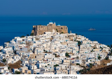 Querini castle and Chora in Astypalaia island Greece