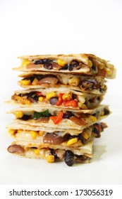 quesadilla stacked on white vertical