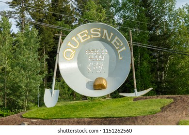 Quesnel, Canada - Circa 2018 : Welcome to Quesnel Sign