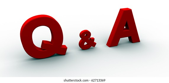 Question and Answer / 3D Rendered word