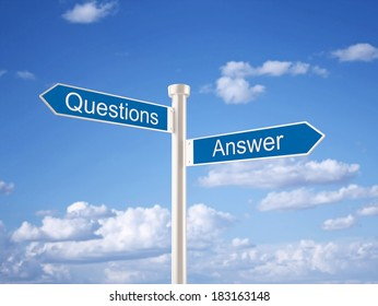 Question and Answer Sign
