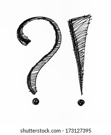 Question and answer symbols on paper