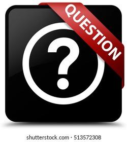 Question black square button