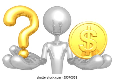 Question And Gold Coin