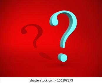 Question mark - 3d render