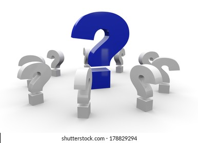 question mark concept blue 3