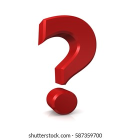 question mark interrogation point isolated 3d red right 9