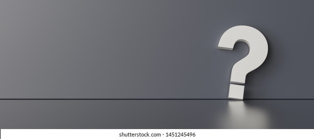 Question mark on dark wall background  - FAQ Concept image