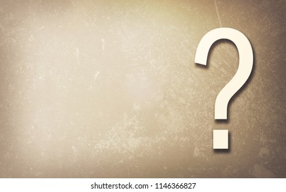 Question mark on grunge background