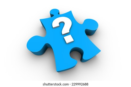 Question Mark on Jigsaw Puzzle Piece