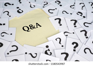 question mark on white paper with a mutiple font type. questions and answer concept