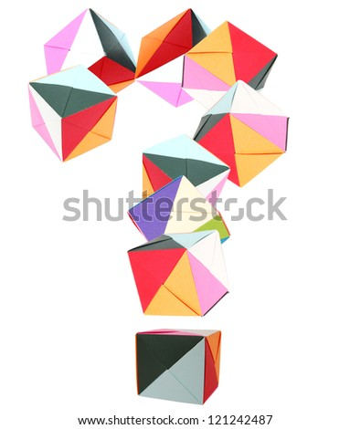 Question Mark Origami Blocks Stock Photo Edit Now 121242487