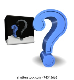 Question Mark pop up from a cube