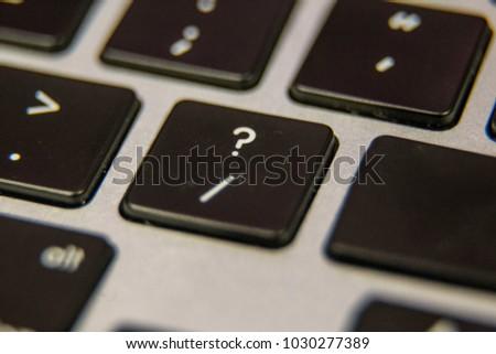 Question Mark Slash Symbol Keyboard Key Stock Photo Edit Now