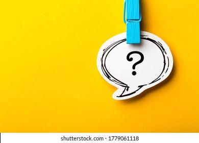 Fragezeichen-Sprechblase mit Schatten für Ihre Bearbeitung.