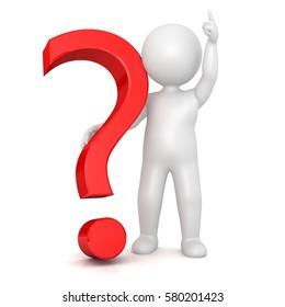 question mark stickman 3d