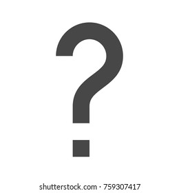 Question Mark Thin Line Icon. Flat icon isolated on the white background.