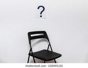 Question mark and vacant position at office