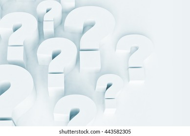 Question marks 3d illustration