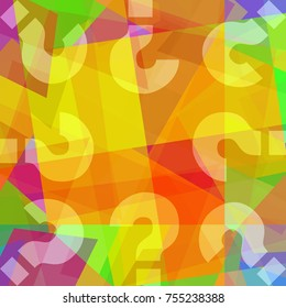 Question marks on abstract art background