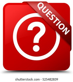 Question red square button