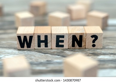 question when on wood cubes