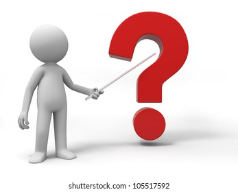 question/A man is explaining the question