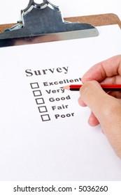 questionnaire and pencil, business concept