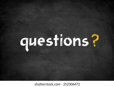 questions chalkboard concept