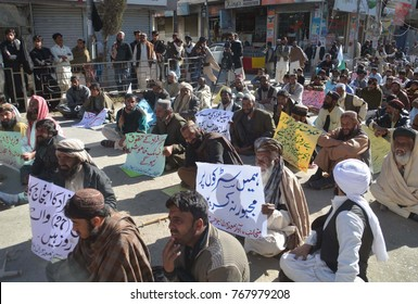 QUETTA, PAKISTAN - DEC 03: Dumb and Deaf Association members are holding demonstration for activation of their social rights, on the universal day for disable persons, on December 03, 2017 in Quetta.