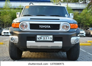 QUEZON CITY, PH - APR. 13: Toyota FJ Cruiser at Rev Up Motor Show on April 13, 2019 in Quezon City, Philippines.