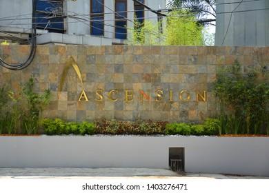 QUEZON CITY, PH - APR. 19: Ascension Columbarium facade on April 19, 2019 in Quezon City, Philippines.