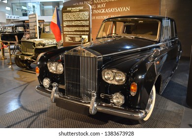 QUEZON CITY, PH - APR. 28: 1960 Rolls-Royce Phantom V owned by Imelda Marcos display at Presidential Car Museum on April 28, 2019 in Quezon City, Philippines.