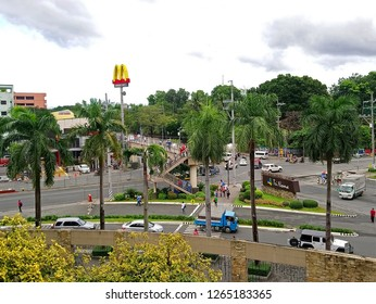 QUEZON CITY, PH - DEC. 13: Mindanao Avenue traffic at daytime on December 13, 2018 in Quezon City, Philippines. Quezon City is located on a guadalupe plateau northeast of Manila, Philippines.