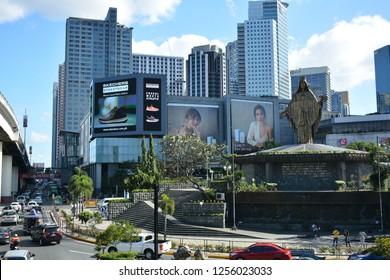 QUEZON CITY, PH - DEC. 8: EDSA Shrine on December 8, 2018 in Quezon City, Philippines. EDSA Shrine is a small church of the Roman Catholic Archdiocese of Manila located in Philippines.