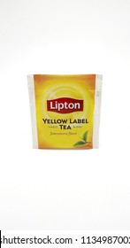 QUEZON CITY, PH - JULY 15: Lipton yellow label tea on July 15, 2018 in Quezon City, Philippines. Lipton brand name is a manufacturer of tea products.