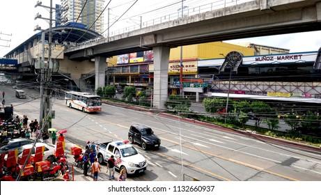 QUEZON CITY, PH - JULY 5: Epifanio de los Santos Avenue on July 5, 2018 in Quezon City, Philippines. Epifanio de los Santos Avenue (EDSA) is a 54 kilometer stretch road located in the Philippines.