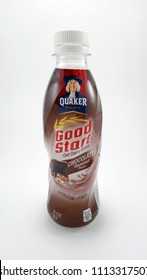 QUEZON CITY, PH - JUNE 15: Quaker Good Start Chocolate Hazelnut flavor drink on June 15, 2018 in Quezon City, Philippines. Quaker brand is a manufacturer of oatmeal in America.