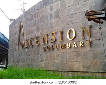 QUEZON CITY, PH - OCT. 4: Ascension columbary signage on October 4, 2018 in Quezon City, Philippines. Ascension is a columbary located in G. Araneta Avenue.
