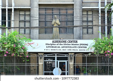 QUEZON CITY, PHILIPPINES - Alberione Center facade on March 30, 2018 in Quezon City, Philippines. Alberione Center is a Non-Government agency business.