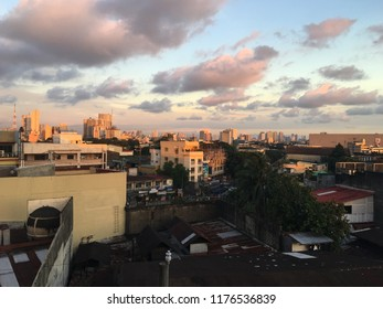 QUEZON CITY, PHILIPPINES-SEPTEMBER 8, 2018: An afternoon view of the skyline of Quezon City, one of the key cities in the Southeast Asian country of the Philippines