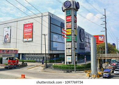 QUEZON CITY, PH-MAR. 30: SM Santa Mesa facade on March 30, 2018 in Quezon City, Philippines. SM City Santa Mesa is a shopping mall located at Barangay Dona Imelda, Quezon City.