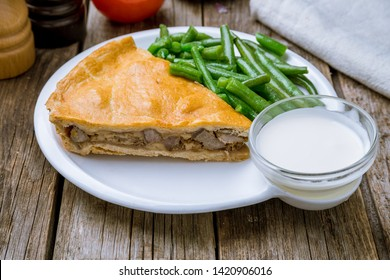 quiche Lorraine with mushrooms and bacon