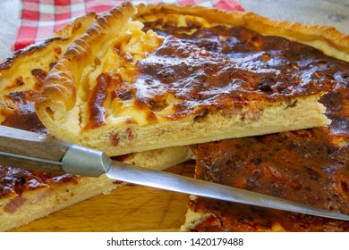quiche lorraine on a table