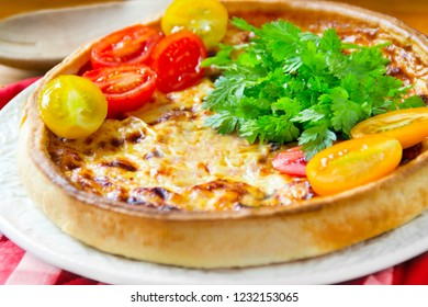 Quiche Lorraine and tomatoes