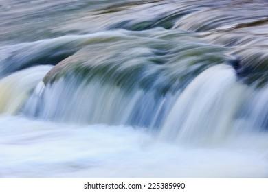 Quick run water on mountain stream