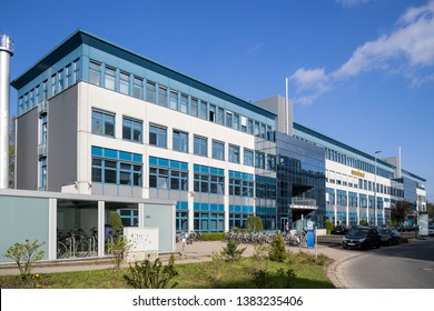 QUICKBORN, GERMANY - APRIL 9, 2019: Headquarters of the Comdirect Bank. Comdirect bank AG is a German direct bank. It offers current accounts, online brokerage and several types of credits and loans.