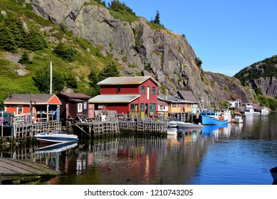 Quidi Vidi, St. John's, NL,Canada - August 11, 2018:  The scenic neighborhood of Quidi Vidi which was once a historic fishing village located within the capital city of Newfoundland and Labrador.